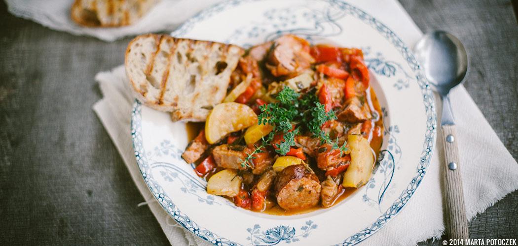 рагу рецепт из свинины и капусты #9
