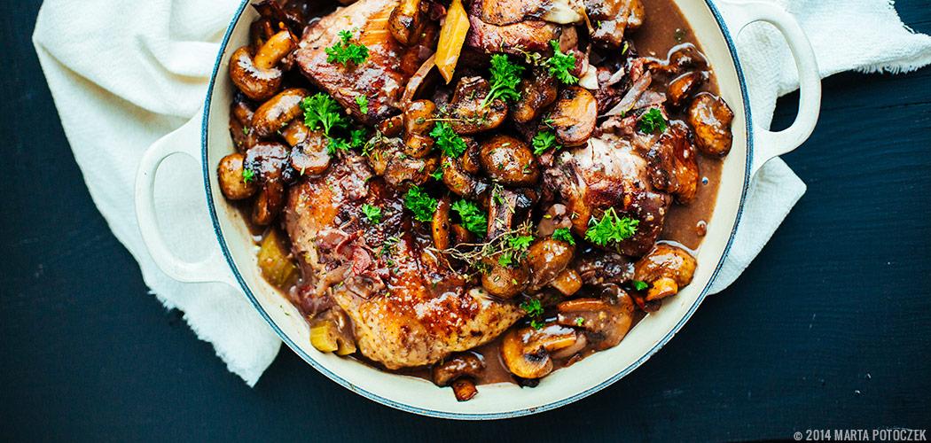 coq au vin przepis na kurczaka